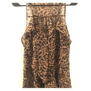 Mine Leopard Print Ruffled Medium